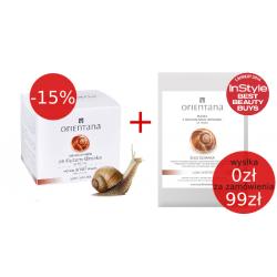 PROMOCJA -15% - Krem ze śluzem ślimaka do twarzy + Maska z naturalnego jedwabiu ze śluzem ślimaka - ORIENTANA